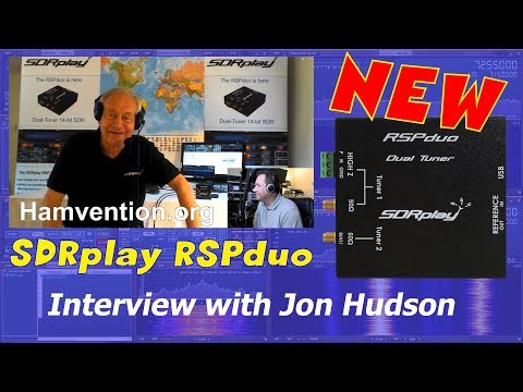 NEW SDRplay SDRduo dual tuner SDR receiver - Interview with Jon Hudson