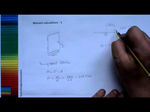 How do I calculate the moment of a force?