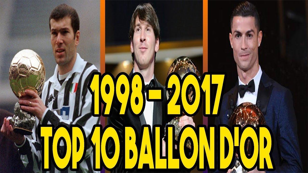 96400d1529f Ballon D or Top 10 (1998-2017) - YouTube