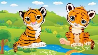 Bé học nói các con vật hoang dã | Em tập đọc con hổ con thỏ con nai | Dạy trẻ thông minh sớm