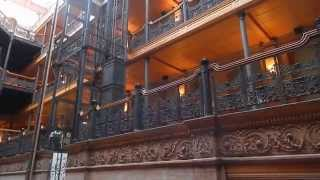 Hopscotch the Mobile Opera excerpt at the Bradbury Building, Downtown Los Angeles  Nov. 14, 2015