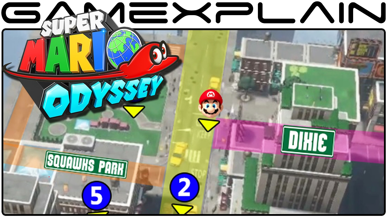Super Mario Odyssey Mapping Out New Donk City s Streets & Secrets