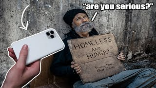 Asking The Homeless What They Want Then Buying It For Them *emotional*
