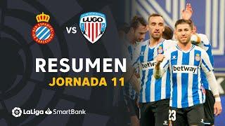 Resumen de RCD Espanyol vs CD Lugo (2-1)