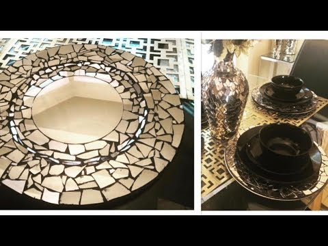 How to make a mirrored mosaic table