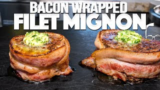 THE BEST FILET MIGNON I'VE EVER MADE (BACON WRAPPED W/ COMPOUND BUTTER!) | SAM THE COOKING GUY