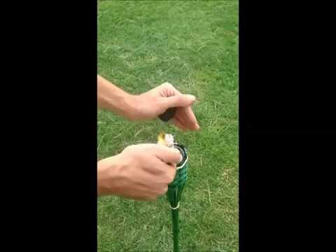como encender una antorcha de jardin