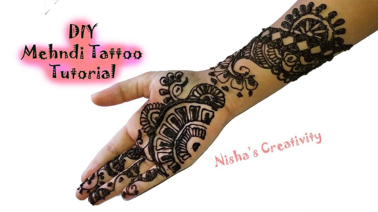 Diy Mehndi Art Tutorial Henna Tattoo Tutorial Easy Henna Art Youtube