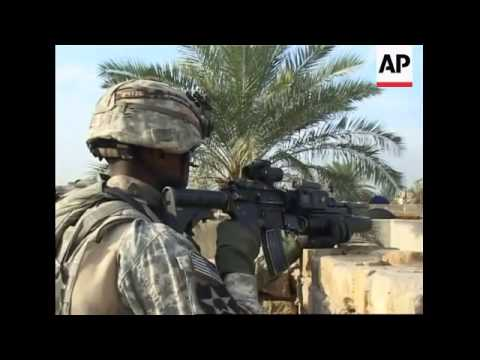 AP embed pictures of US troops conducting security operations in Baghdad
