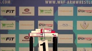 XL WORLD ARMWRESTLING CHAMPIONSHIP ANTALYA 2018 JUNIORS RIGHT HAND T 1