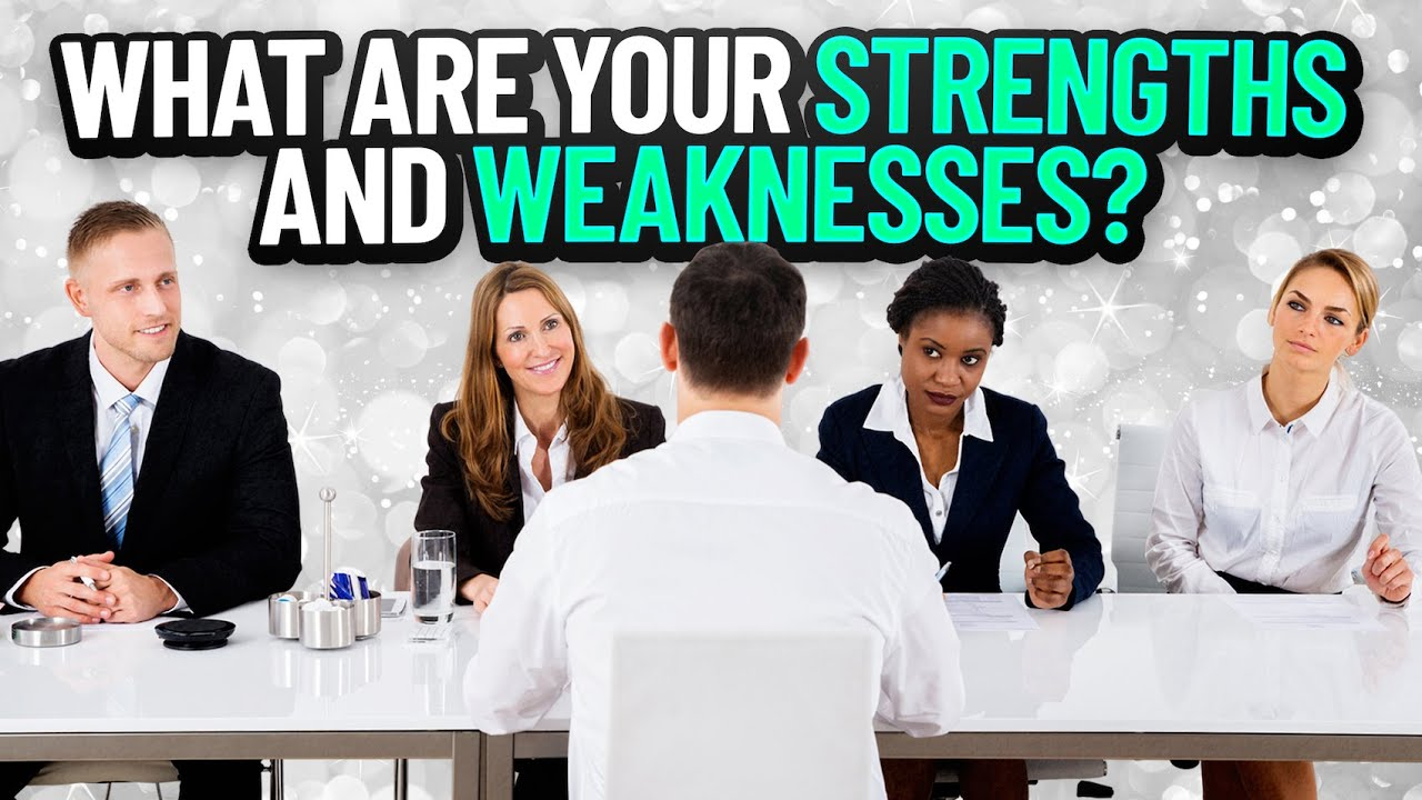 Download What Are Your STRENGTHS and WEAKNESSES? | TOP-SCORING Answers to this Tough INTERVIEW QUESTION!