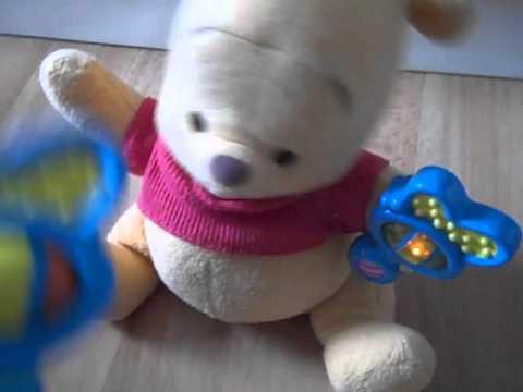 Disney Mattel FisherPrice Electronic Magic Rattle Pooh Plush Winnie The Pooh  YouTube