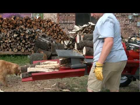1 3 Splitting White Oak Firewood With Timberwolf Tw7 Youtube