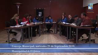Concejo Municipal miércoles 25 de septiembre 2019