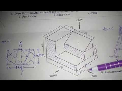 Iti Second Semester Engineering Drawing Papers 2018 Ncvt Youtube