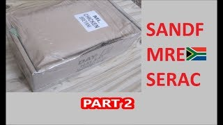 South African Ration Review: SANDF 24H MRE Menu 5 Part 2 of 2