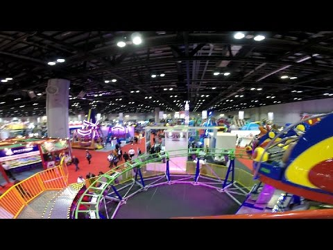 Spinning Coaster front seat on-ride HD POV IAAPA Attractions Expo