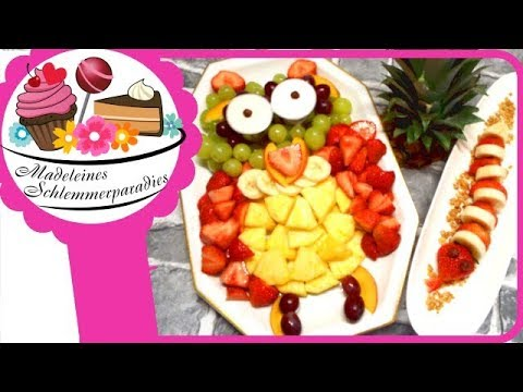Susse Tiere Obst Eule Schlange I Party Snack I Fun Schnell