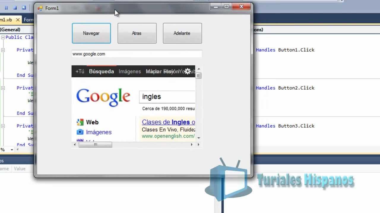 Curso 28 VB NET Navegador Google Chrome Webkitbrowser (visual studio  espanol)