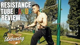 Resistance Tube Bands Review - First impressions | 11 Piece Set unboxing