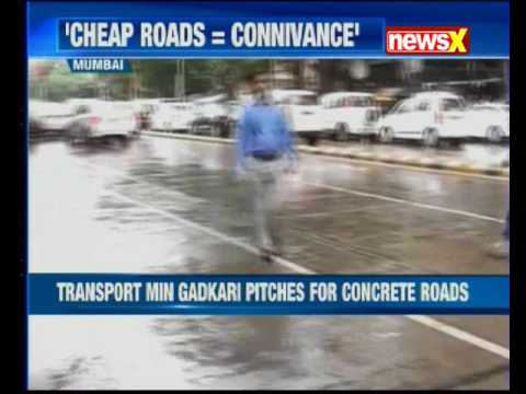 Union Transport Minister Nitin Gadkari pitches for concrete roads