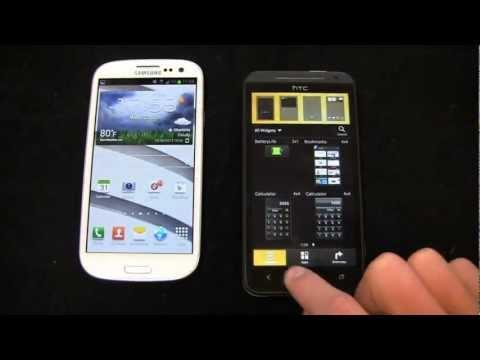 Samsung Galaxy S III vs. HTC EVO 4G LTE Dogfight Part 1