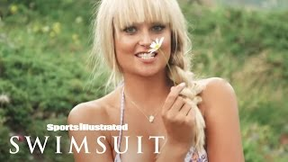 Genevieve Morton twirls and teeters in her SI Swimsuit 2014 outtakes