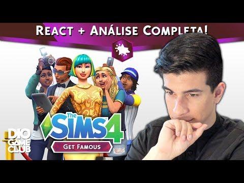 NOVA EXPANSÃO! React + Análise Completa ~ The Sims 4 Get Famous | DioGameClub thumbnail