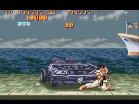 Ryu Vs Car Street Fighters Ii Turbo Youtube