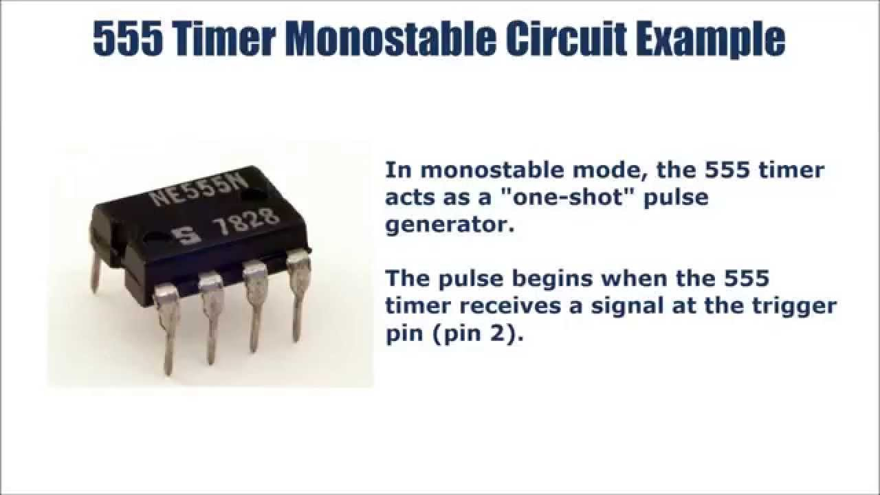 How To Build 555 Timer Mono Stable One Shot Circuit