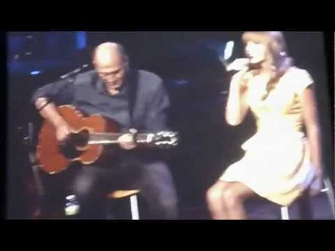 James Taylor and Taylor Swift - Fire and Rain (live) 7/2/12 Tanglewood  Lenox, MA