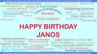 Janos   Languages Idiomas - Happy Birthday