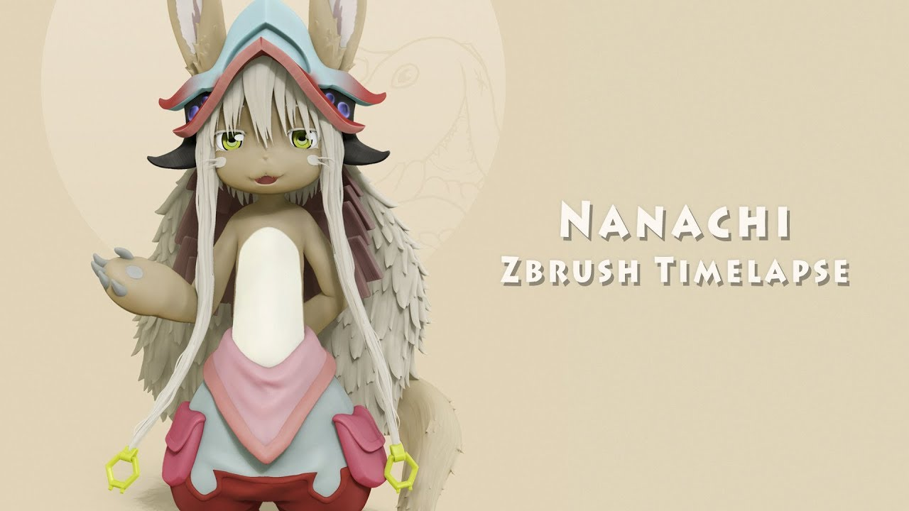 Nanachi Made In Abyss Zbrush Timelapse Youtube