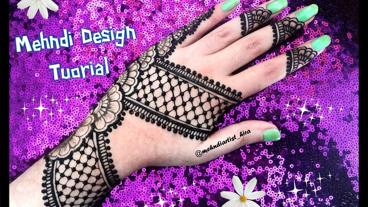Mehndi Designs New Latest : How to apply new latest easy simple henna mehndi designs for hands