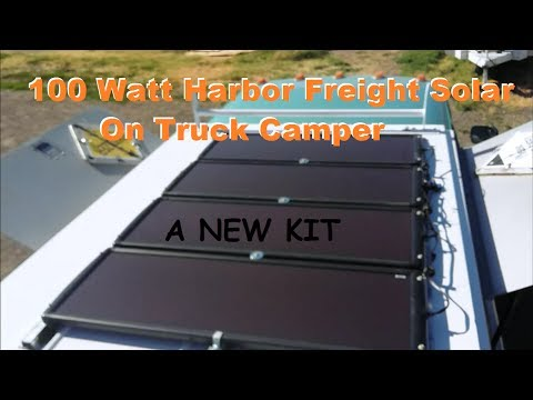 HARBOR FREIGHT new 100 Watt Solar kit camper roof installation
