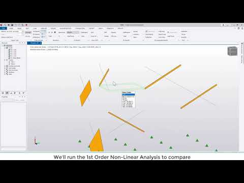 Tekla Structural Designer 2020 - What is the 1st order non-linear analysis?