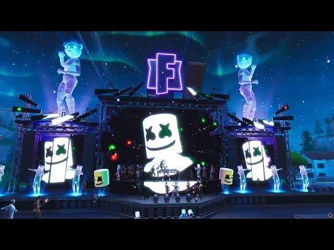 ההופעה המלאה של די ג'יי מרשמלו בפורטנייט -Fortnite Marshmello Festivus event - אירוע פורטנייט עונה 7