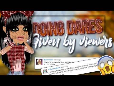 DOING DARES GIVEN BY VIEWERS!