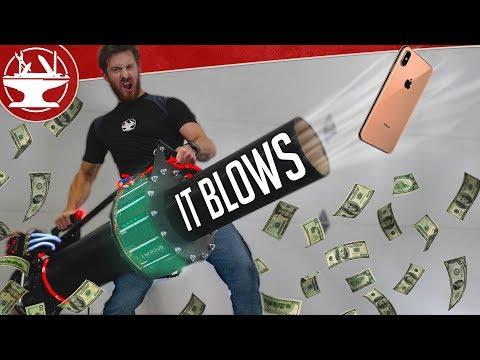 $10,000 LEAFBLOWER VS IPHONE XS MAX