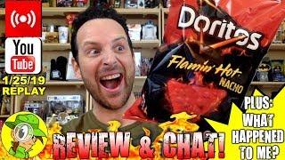 Doritos® Flamin' Hot® Nacho Review | Livestream Replay 1.25.19 🕵️💬🔥