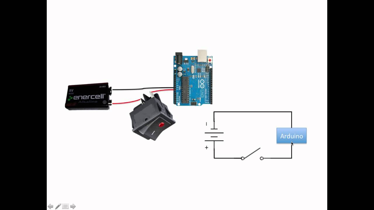 arduino autonomous vehicle battery connections and power switch rh youtube com wiring vehicle switches off road lighting Single Pole Switch Wiring Diagram