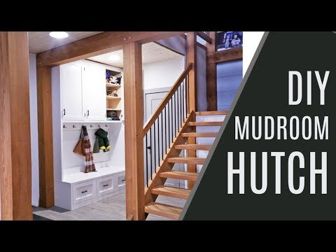 DIY: Mudroom Hutch with Hooks and Cabinet Storage