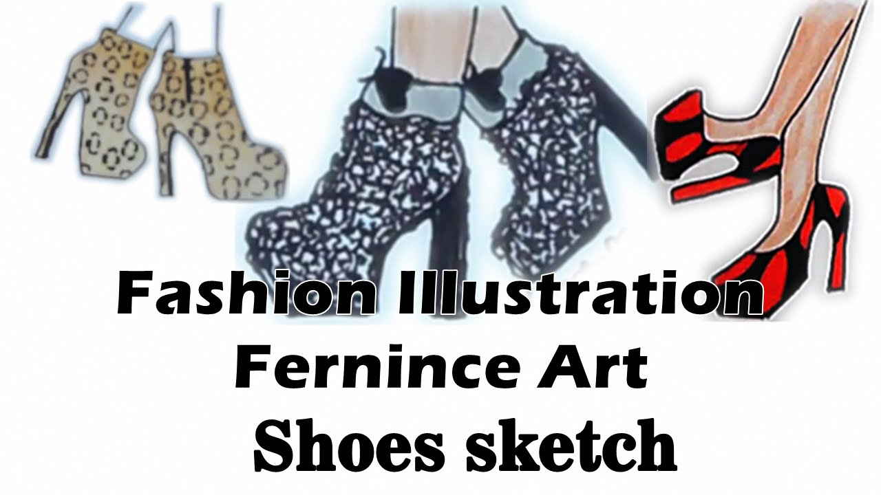 how to draw sketch high heels youtube