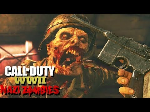 Call of Duty WW2 Nazi Zombies Mode Gameplay German #13 - Tesla Upgrade