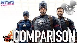 Hot Toys Captain America Avengers Endgame D23 Expo Comparison Video
