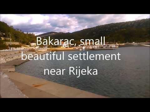 Bakarac, beautiful small settlement, near Rijeka, Croatia