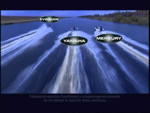 Evinrude versus Yamaha and Mercury, Drag Race