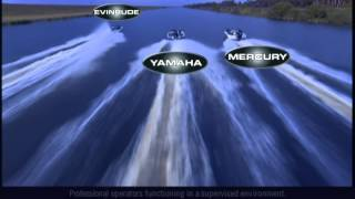 Evinrude versus Yamaha and Mercury, Drag Race