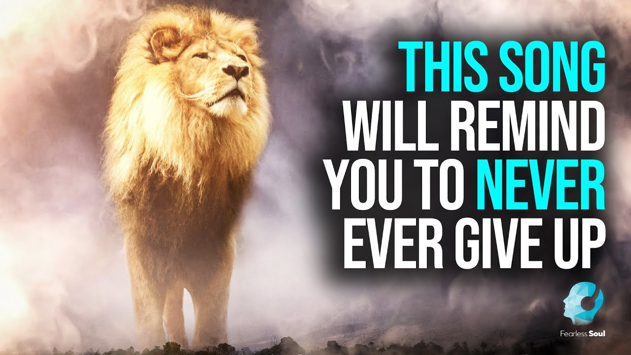This Song Will Remind You To Never, Ever Give Up! (Official Lyric Video NEVER GIVING UP)