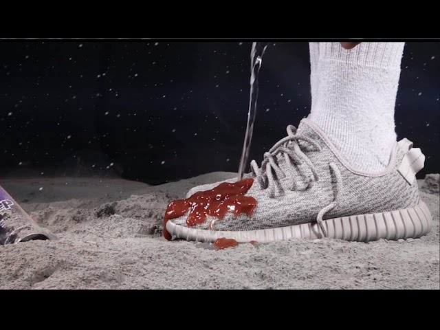 new styles dc7e2 730eb adidas YEEZY Boost 350 Gets Covered in Ketchup   Highsnobiety